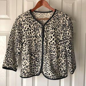 CHICO'S wool cardigan / jacket Zip front  Size 1